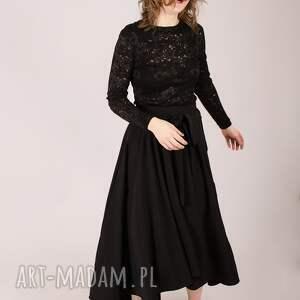 awangardowe spódnice elegancka czarna spódnica maksi