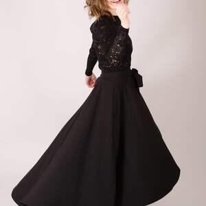 elegancka spódnice czarna spódnica maksi