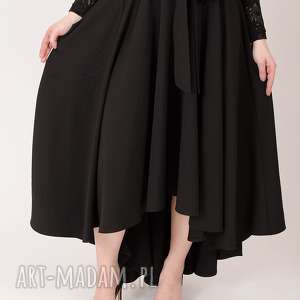 spódnice elegancka czarna spódnica maksi