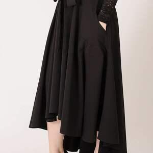 elegancka czarna spódnica maksi