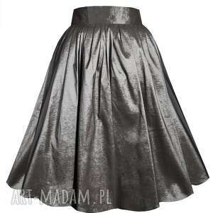 spódnice elegancka grafitowa spódnica z tafty