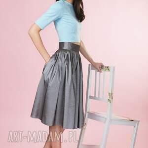 gustowne spódnice spodnica grafitowa spódnica z tafty