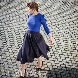 trendy spódnice elegancka granatowa spódnica z koła