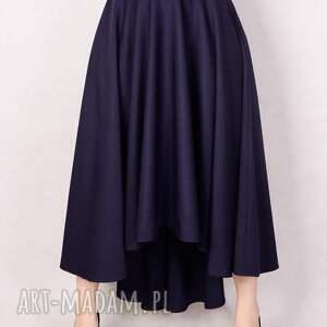trendy spódnice wełniana granatowa spódnica z koła