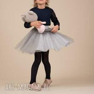 szare spódnice perelki komplet spódniczek tiulowych
