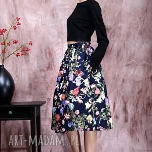 czarne spódnice spódnica kwiecista z kieszeniami