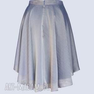 lila spódnice - mieniąca się spódnica