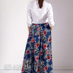 maxi spódnice niebieskie spódnica koman