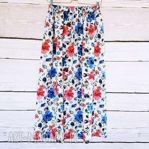 spódnice: Maxi spódnnica w piękne kwiaty spódnica
