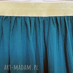 muślinowa spódnice spódnica na złotej gumie