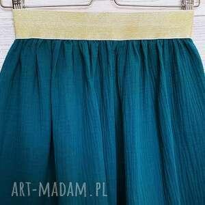 spódnice muślinowa spódnica na złotej gumie