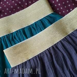 spódnice muślin muślinowa spódnica na złotej gumie