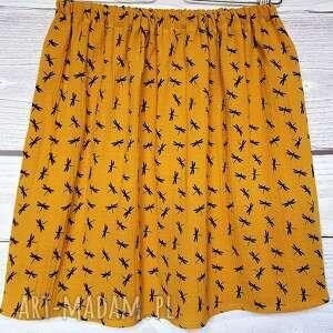 żółć musztardowa spódnice pomarańczowe spódnica z muślinu