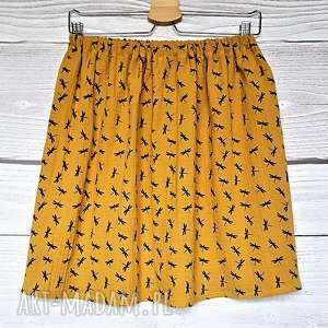 żółte spódnice musztarda musztardowa spódnica z muślinu