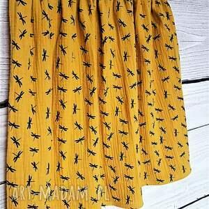 niebanalne spódnice żółć musztardowa spódnica z muślinu