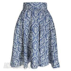 porcelanowa spódnice niebieska spódnica