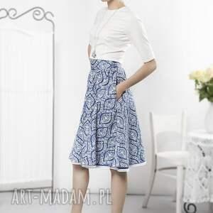 niebieskie spódnice spódnica niebieska porcelanowa