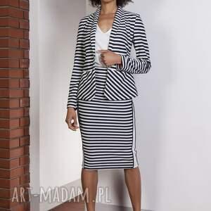 atrakcyjne spódnice spódnica ołówkowa midi z lampasami