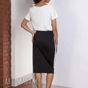 spódnice midi ołówkowa spódnica z lampasami
