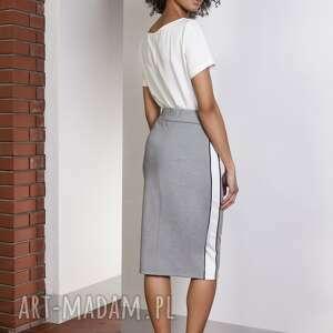 handmade spódnice spódnica ołówkowa midi z lampasami