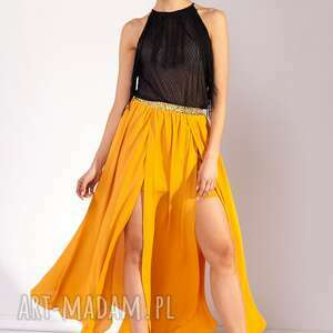 żółte spódnice maxi spódnica huruma