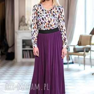 fioletowe spódnice maxi stylowa spódnica uszyta z cienkiej