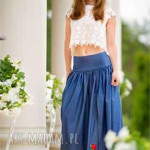 spódnice spódnica piękna dżinsowa maxi z