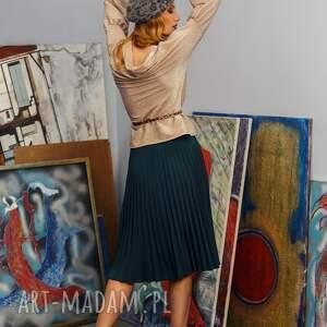 niebieskie spódnice solejka plisowana spódnca z półkola w r. 34