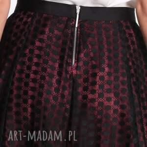 różowe spódnice koronka roseline - spódnica fuksja