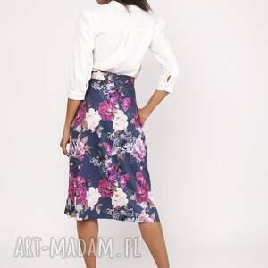 eleganckie spódnice spódnica rozkloszowana za kolano