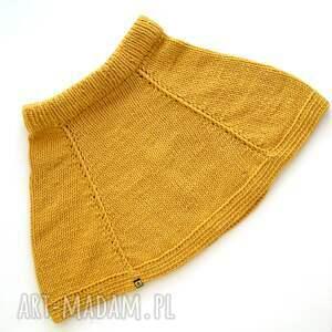 pomarańczowe spódnice spódniczka rozkloszowana spódnica z klinów