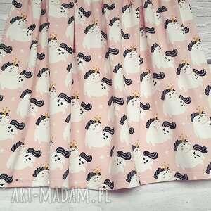 białe spódnice jednorożce różowa spódnica jersey w