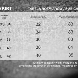 niepowtarzalne spódnice spódnica 7/8 skirt  
