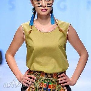 atrakcyjne spódnice spódniaca z chusty folk design