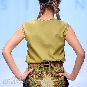 góralskie czarne spódniaca z chusty folk design