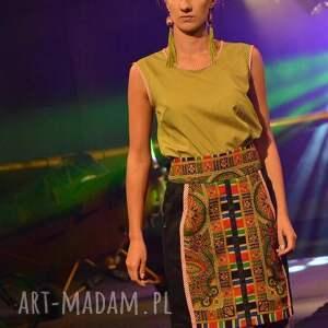 kolorowe spódnice spódniaca z chusty folk design