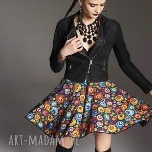 MoRe Fashion spódnice: - spódnicawysokatalia spódnica z-koła