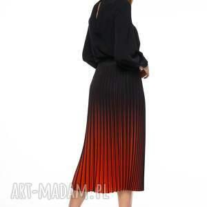 czerwone plisowana spódnica berenike