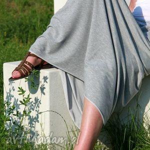 dresowa spódnica maxi bawełna szara