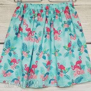 różowe spódnice spódnica we flamingi
