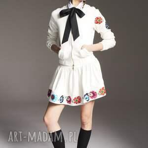 MoRe Fashion spódnice: Spódnica iza 6232 - Ręczne wykonanie haftowana