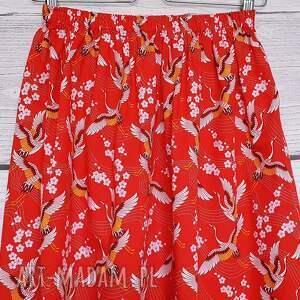 trendy spódnice kwiat-wiśni spódnica japońskie żurawie na