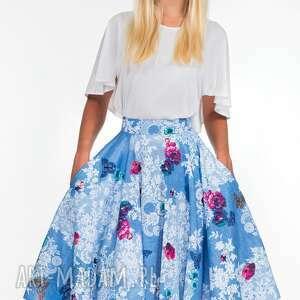 koło spódnice turkusowe spódnica midi bonita