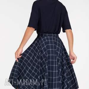 ręczne wykonanie spódnice kratka spódnica koło midi gemma