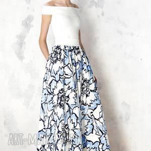 spódnice spódnica maxi w błękitne