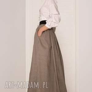 unikatowe spódnice spódnica maxi w pepitkę