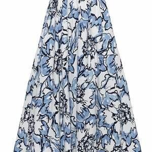 białe spódnice elegancka spódnica maxi w błękitne