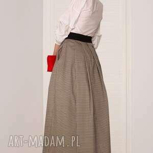 spódnice elegancka spódnica maxi w pepitkę