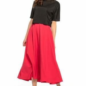 handmade spódnice spódnica midi, t260, czerwony