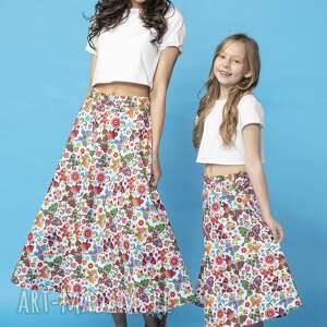 bawełna spódnice spódnica midi z tkaniny bawełnianej